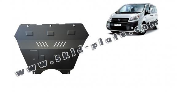 Steel skid plate for the protection of the engine and the gearbox for Fiat Scudo