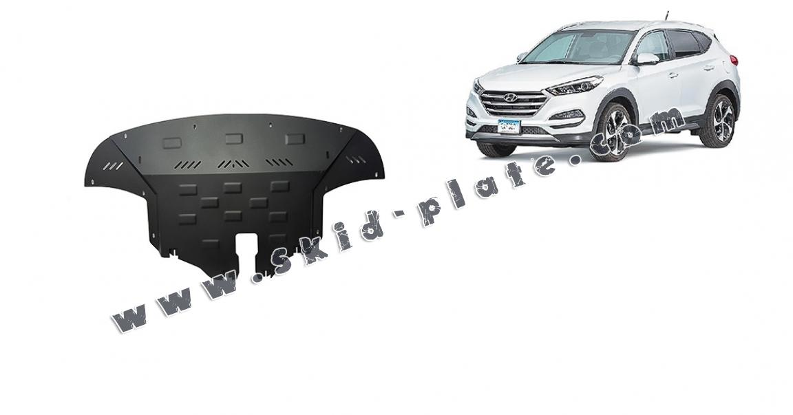 HYUNDAI TUCSON 2015-2018 FUEL TANK GUARD SKID PLATE UNDERTRAY BLACK STEEL