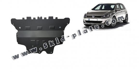 Steel skid plate for the protection of the engine and the gearbox for VW Golf 7 - manual gearbox