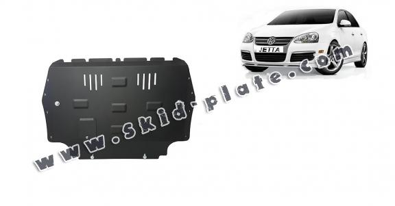 Steel skid plate for VW Jetta