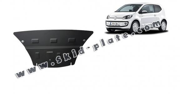 Steel skid plate for the protection of the engine and the gearbox for VW Up