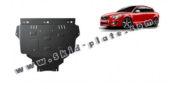 Steel skid plate for Volvo C30