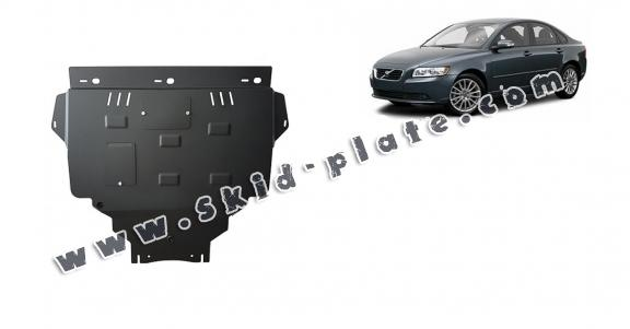 Steel skid plate for Volvo V50