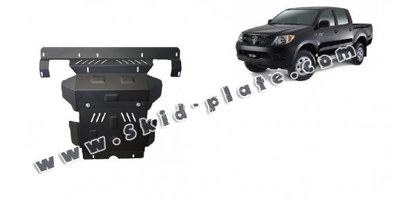 Steel skid plate for the protection of the engine and the radiator for Toyota Hilux