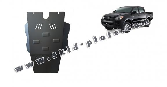 Steel differential skid plate for Toyota Hilux