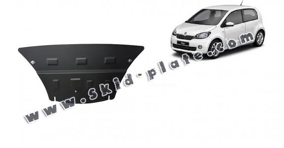 Steel skid plate for the protection of the engine and the gearbox for Skoda Citigo