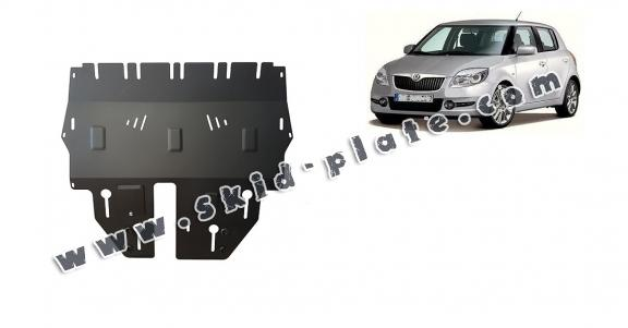 Steel skid plate for Skoda Fabia 2