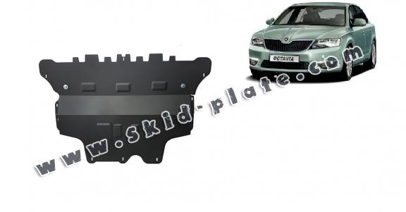 Steel skid plate for the protection of the engine and the gearbox for Skoda Octavia 3 - manual gearbox