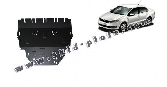 Steel skid plate for Skoda Rapid
