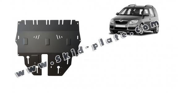 Steel skid plate for Skoda Roomster