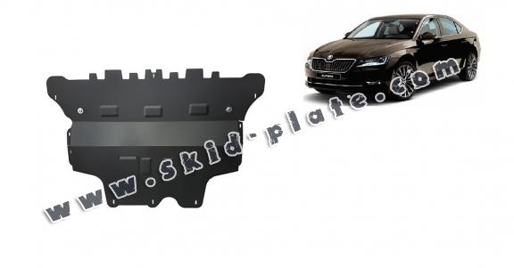 Steel skid plate for Skoda Superb