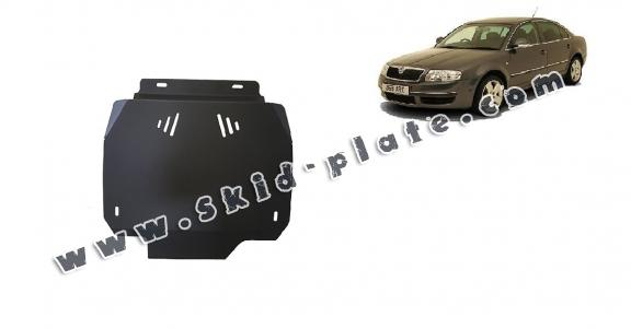 Steel automatic gearbox skid plate forSkoda Superb