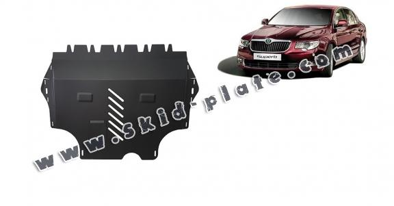 Steel skid plate for Skoda Superb 2