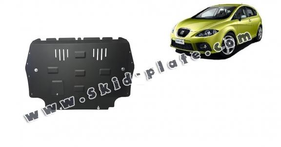 Steel skid plate for the protection of the engine and the gearbox for Seat Leon