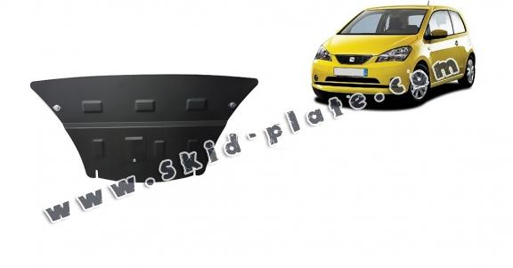 Steel skid plate for the protection of the engine and the gearbox for Seat Mii