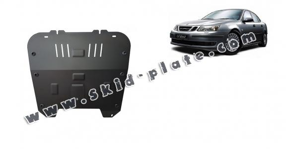 Steel skid plate for the protection of the engine and the gearbox for Saab 9-3