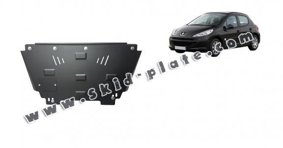 Steel skid plate for Peugeot 207