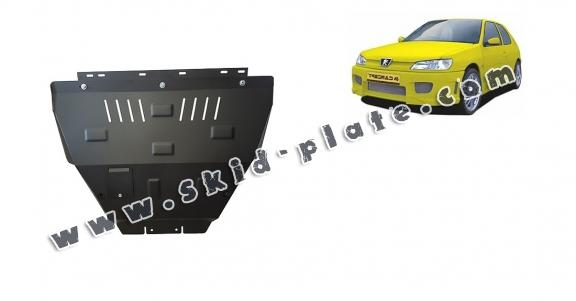 Steel skid plate for Peugeot 306