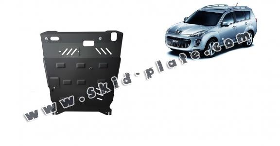 Steel skid plate for Peugeot 4007