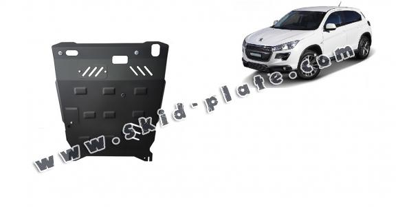 Steel skid plate for Peugeot 4008