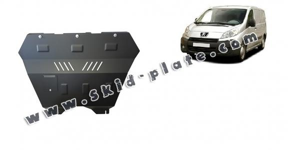 Steel skid plate for the protection of the engine and the gearbox for Peugeot Expert