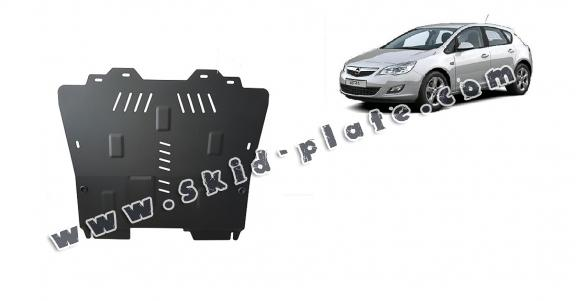 Steel skid plate for Opel Astra J