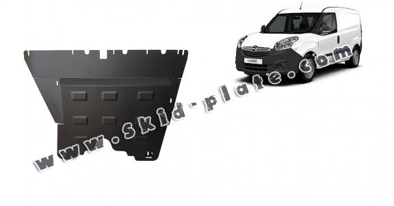 Steel skid plate for Opel Combo