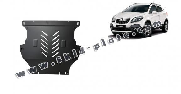 Steel skid plate for Opel Mokka