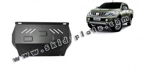 Steel radiator skid plate for Mitsubishi L200