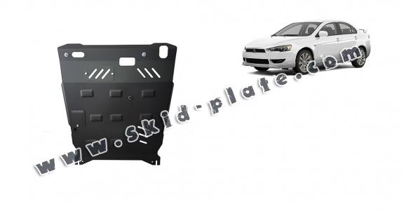 Steel skid plate for the protection of the engine and the gearbox for Mitsubishi Lancer