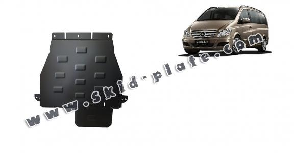 Steel gearbox skid plate for Mercedes Viano W639 - 4x4 - automatic gearbox