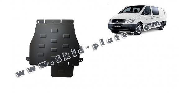 Steel gearbox skid plate for Mercedes Vito W639 - 4x4