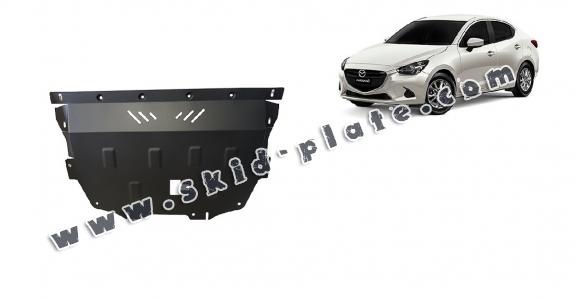 Steel skid plate for Mazda 2
