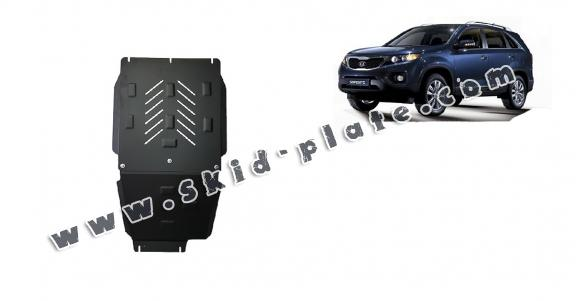 Steel gearbox and differential skid plate for  Kia Sorento
