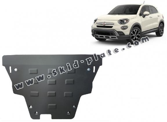 Steel skid plate for Fiat 500x