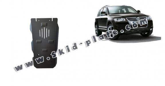 Steel automatic gearbox skid plate for Volkswagen Touareg 7L