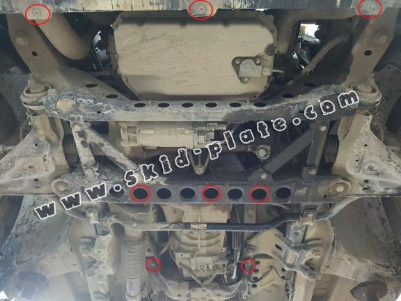 Steel skid plate forMercedes V-Class W447 2.2 D, 4x2