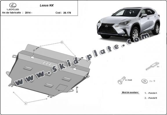 Steel skid plate for Lexus NX