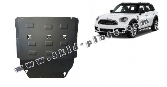 Steel skid plate for the protection of the engine and the gearbox for Mini Cooper