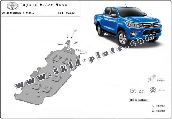 Steel fuel tank skid plate  for Toyota Hilux Revo