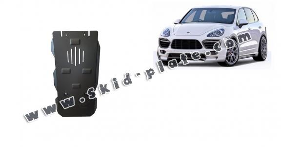 Steel automatic gearbox skid plate for Porsche Cayenne