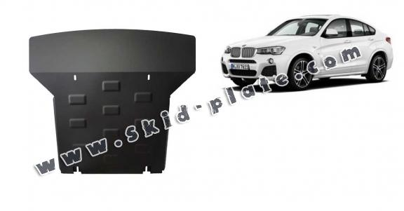 Steel skid plate for  BMW X4
