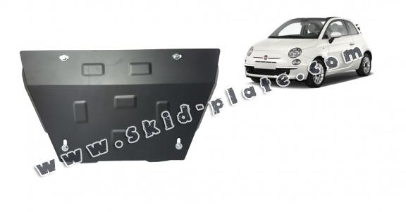Steel skid plate for Fiat 500 S