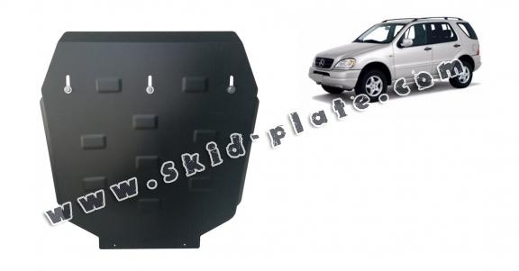 Steel gearbox skid plate for Mercedes ML W163