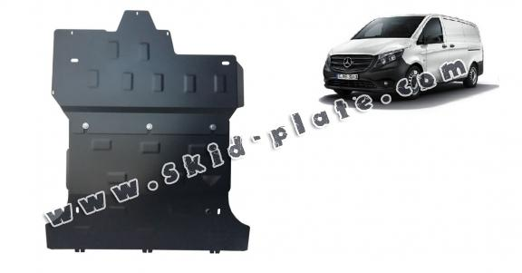 Steel skid plate for the protection of the engine and the gearbox for Mercedes Vito W447 - 2.2D 4X2