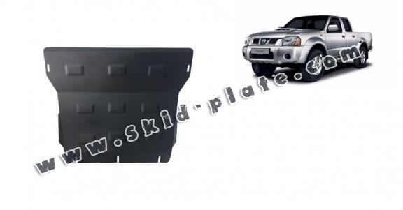 Steel skid plate for the protection of the engine and the radiator for Nissan Navara D22