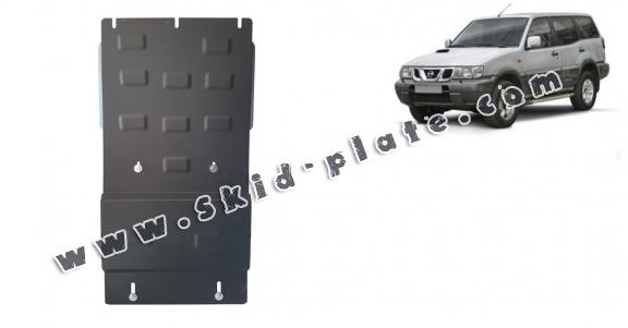 Steel gearbox skid plate for Nissan Terrano II