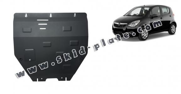 Steel skid plate for Opel Agila (H08)