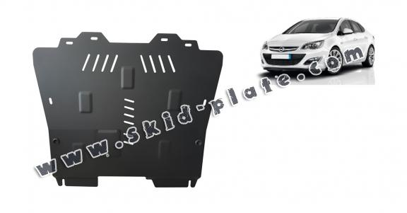 Steel skid plate for Opel Astra J Sedan