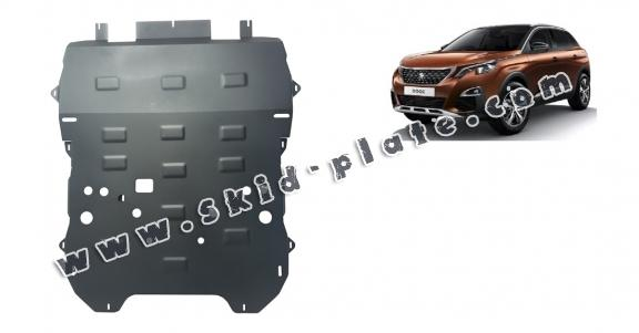 Steel skid plate for the protection of the engine and the gearbox for Peugeot 3008